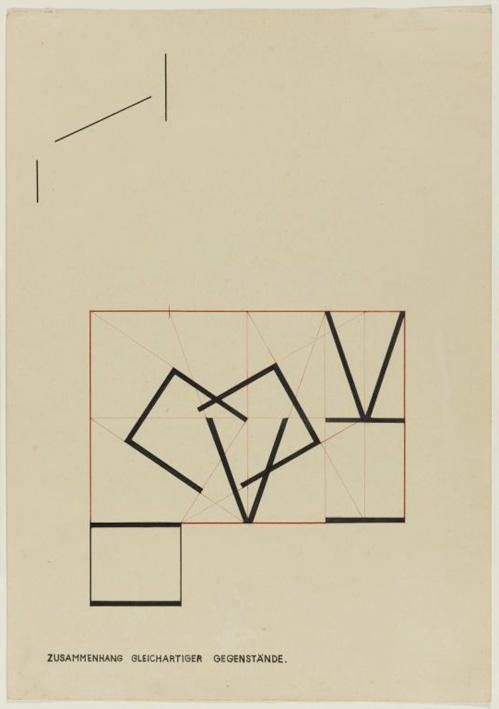 'Relationship of homogeneous objects', Class by Kandinsky, Bauhaus Dessau, Author: Heinrich Neuy, Bauhaus Dessau, 1930.