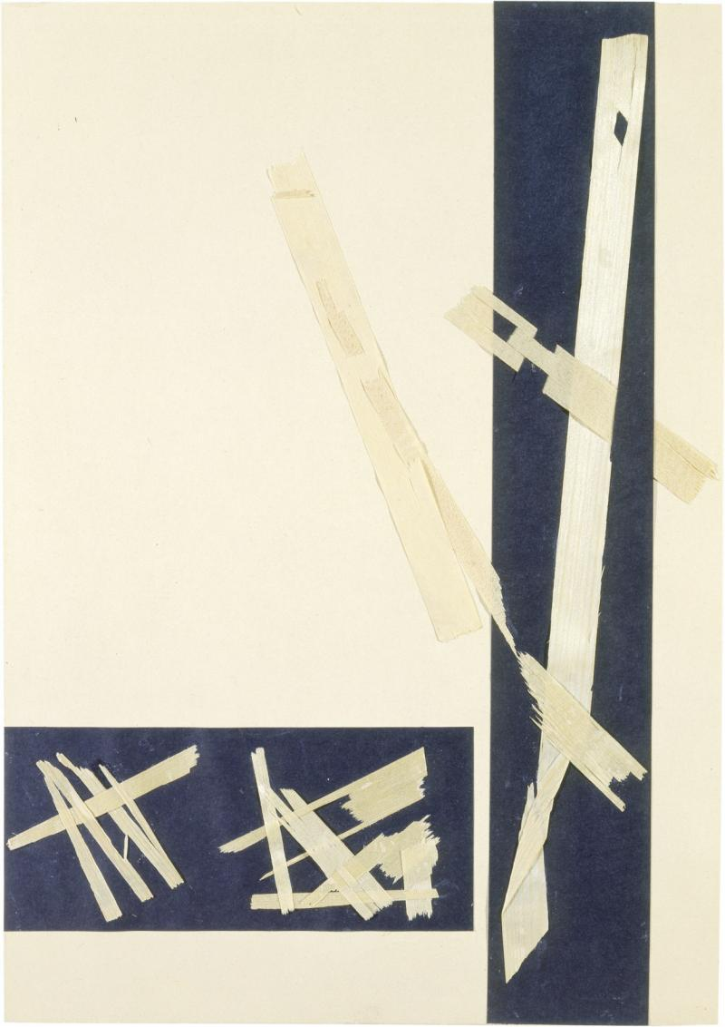 Material Study with Wood Chips, Preliminary course by Josef Albers, Author: Heinrich Neuy, 1930.