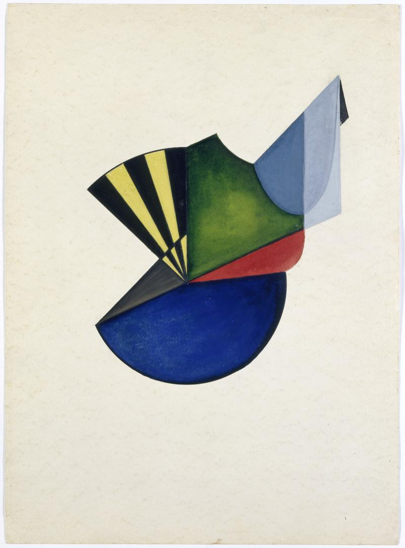 'Hauptspannungen in Farbe übersetzt' (main tension translated in colour), Class by Wassily Kandinsky, Author: Heinrich Neuy, 1930.