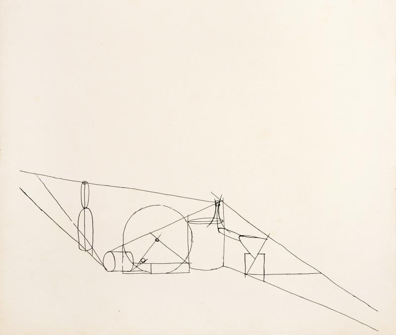 Geometrical Correlations, Maria Rasch, 1922, in: Staatliches Bauhaus Weimar 1919–1923 von Walter Gropius, Munich/Weimar, 1923.
