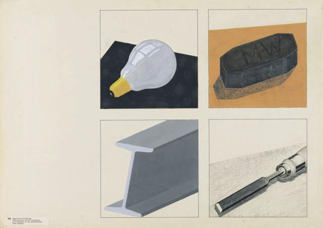 'Display of objects', Printing and Advertising Workshop, Author: Friedrich Reimann, 1931-1932.
