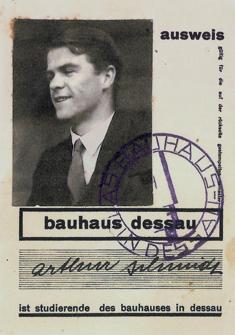 Bauhaus-ID, Arthur Schmidt, bauhaus dessau.