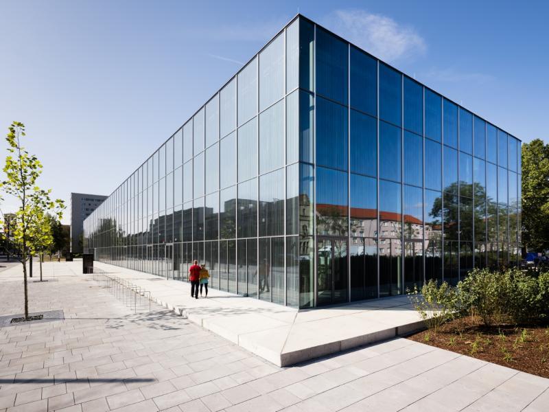 Bauhaus Museum Dessau, Außenansicht, Dessau-Roßlau (Sachsen-Anhalt), Architekten: addenda architects, Foto: Thomas Meyer, 7.9.2019.
