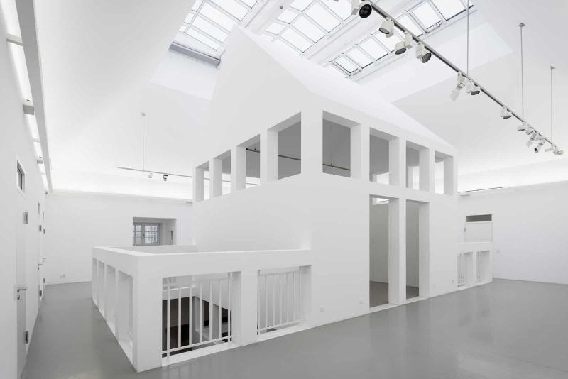 German Architecture Museum (Deutsches Architekturmuseum/DAM), 'House within a House' on the 3rd floor, Frankfurt am Main (Hesse).