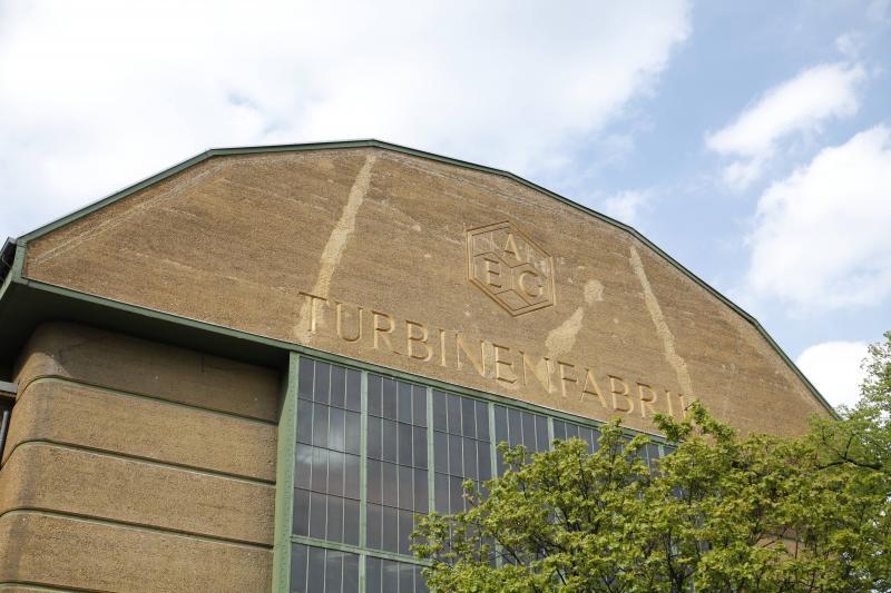 AEG-Turbinenhalle, Detail, Berlin, Architekt: Peter Behrens, 1908–09.