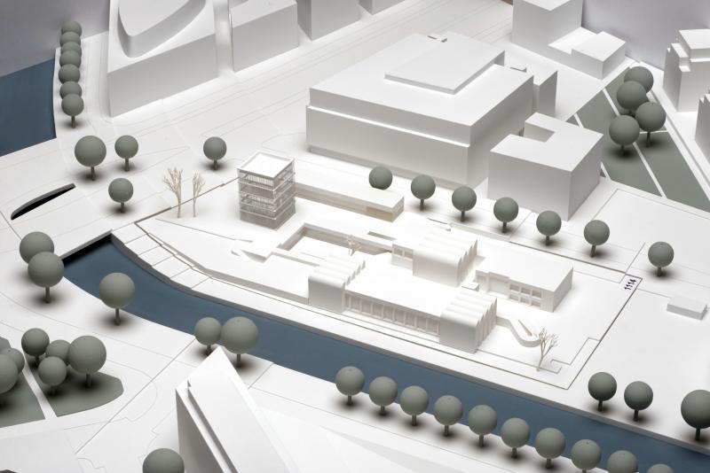 Erster Preis zum Wettbewerb Bauhaus-Archiv: Staab Architekten GmbH, Berlin, Modell.