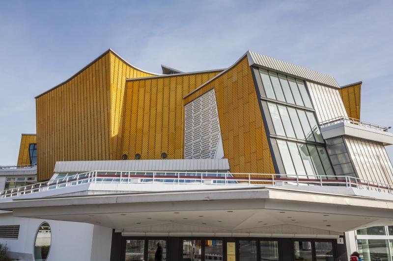 Philharmonie, Berlin-Tiergarten, Architect: Hans Scharoun, 1960–63.